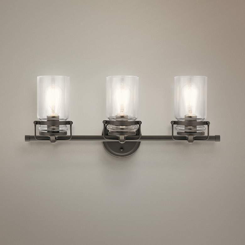 "Kichler Brinley 24"" Wide Olde Bronze 3-Light Bath"