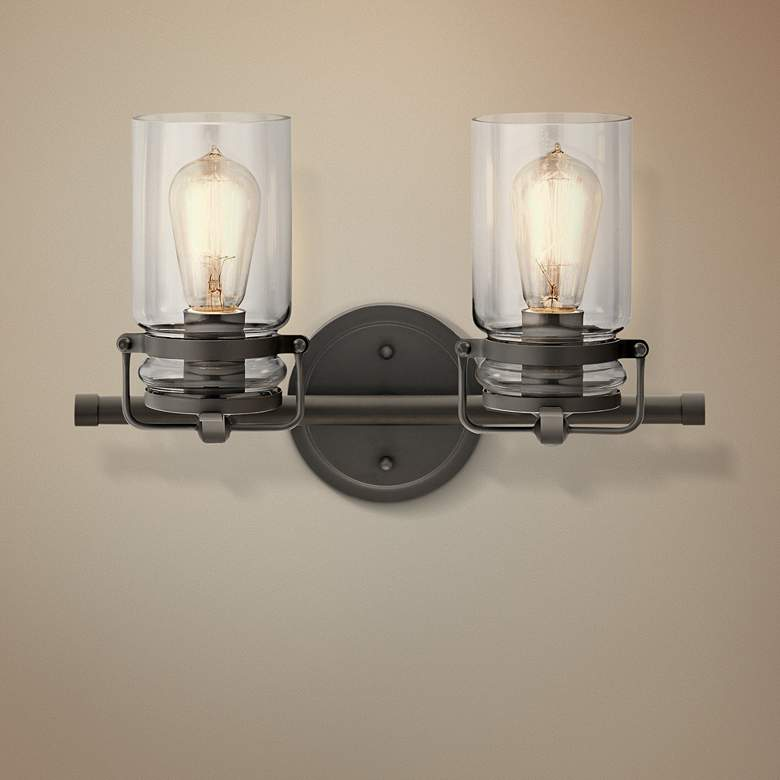 "Kichler Brinley 10"" High Olde Bronze 2-Light Wall"