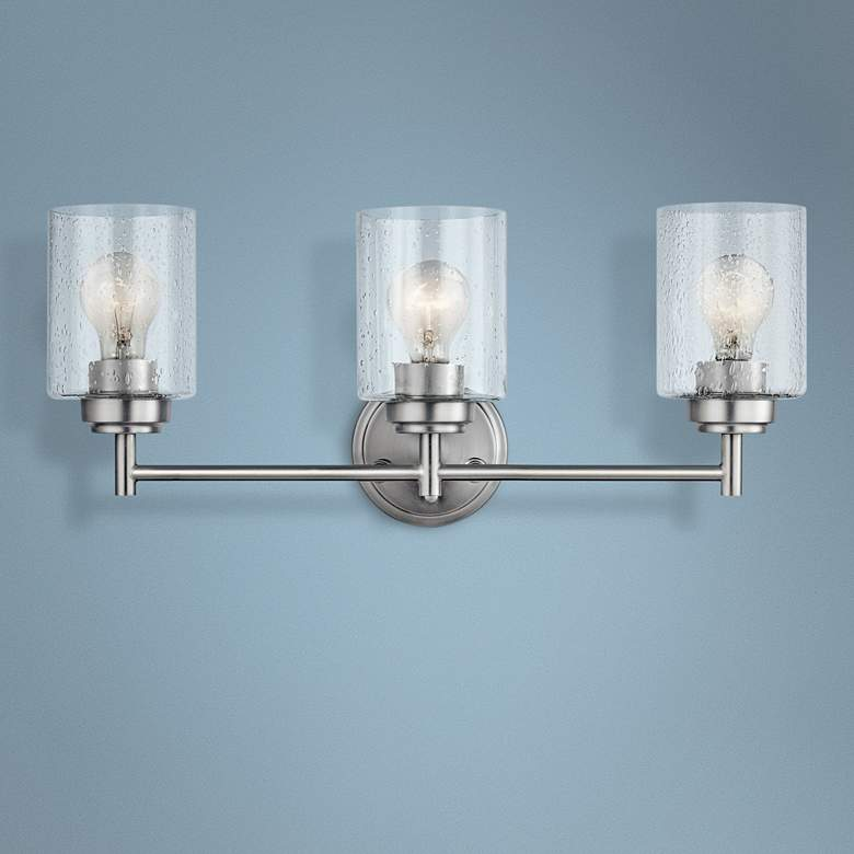 "Kichler Winslow 21 1/2""W Brushed Nickel 3-Light Bath Light"
