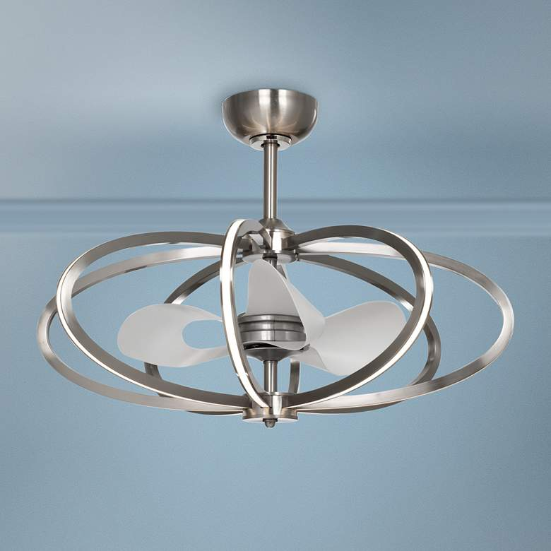 "34.25"" Maxim Solstice Satin Nickel LED Ceiling Fan"
