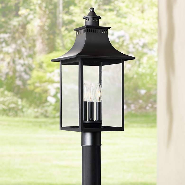 "Quoizel Chancellor 22"" High Mystic Black Outdoor Post"