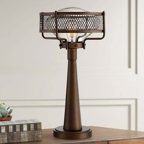 Travis Bronze Industrial Table Lamp