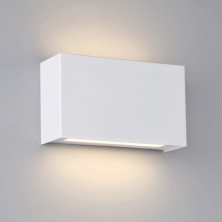 "Blok 7""H White LED Wall Sconce w/ Emergency Backup Battery"