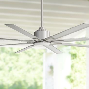 "65"" Minka Aire Xtreme H20 Brushed Nickel Wet Ceiling Fan"