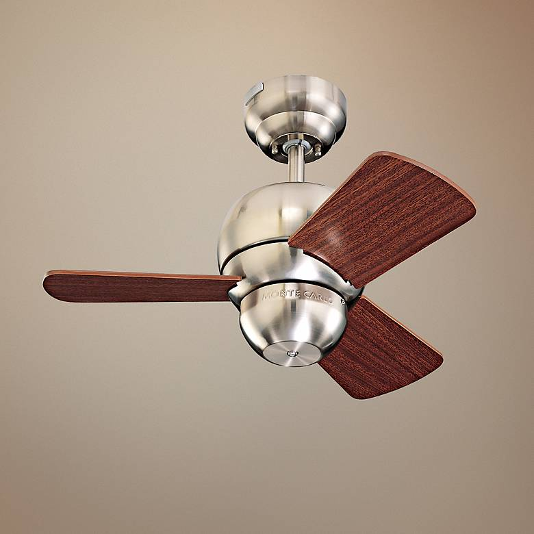 "24"" Micro Brushed Steel Finish Ceiling Fan"