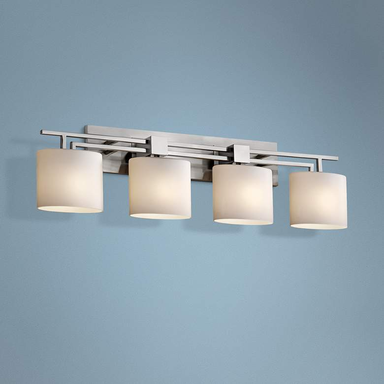 "Fusion Aero 36 1/2"" Wide Brushed Nickel 4-Light Bath Light"