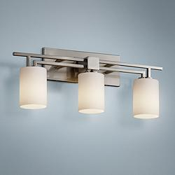 "Fusion Aero 26"" Wide Brushed Nickel 3-Light Bath Light"