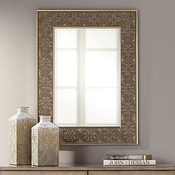 "Uttermost Tam Champagne Pressed 30"" x 40"" Wall Mirror"