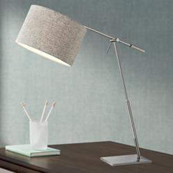 Lite Source Lucilla Brushed Nickel Desk Lamp