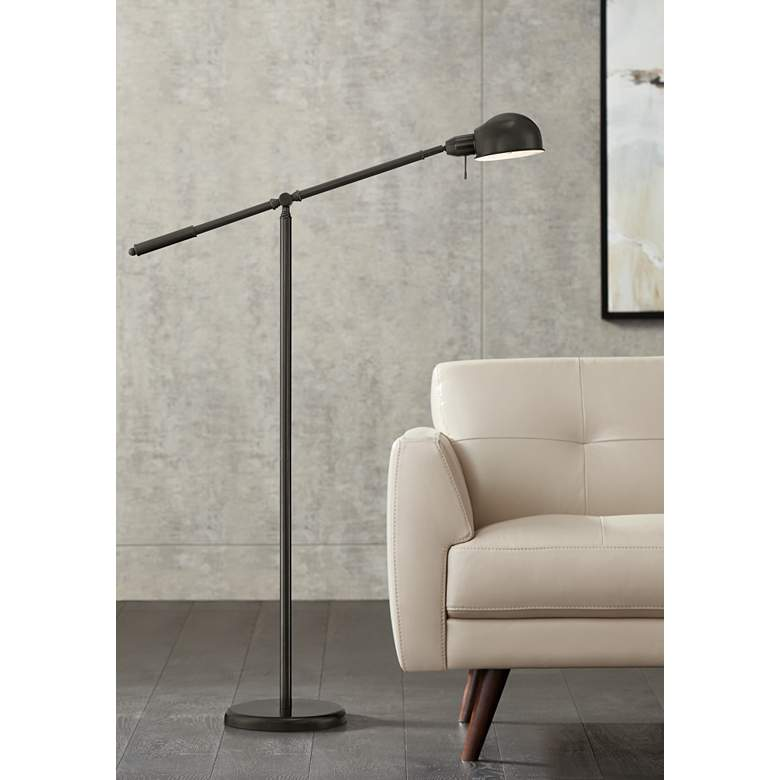 Dawson Dark Bronze Pharmacy Floor Lamp