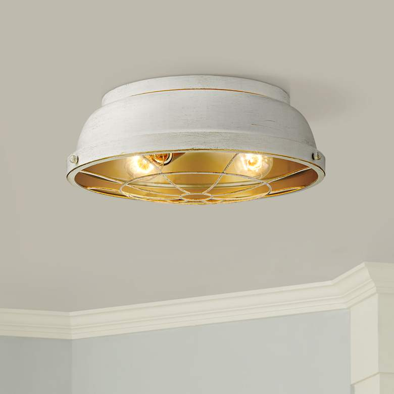 "Bartlett 14"" Wide French White Ceiling Light"