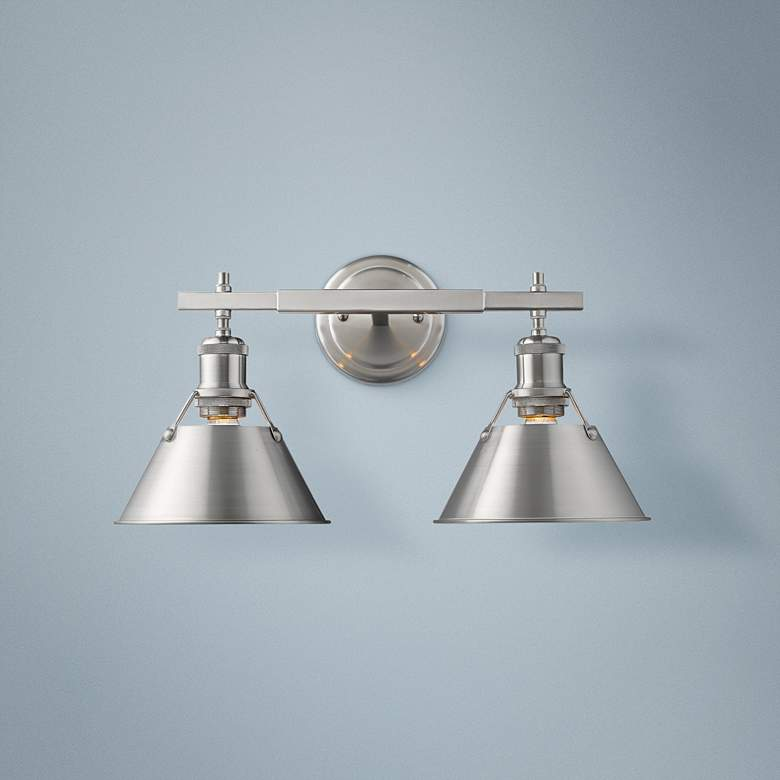 "Orwell 10"" High Pewter 2-Light Wall Sconce"