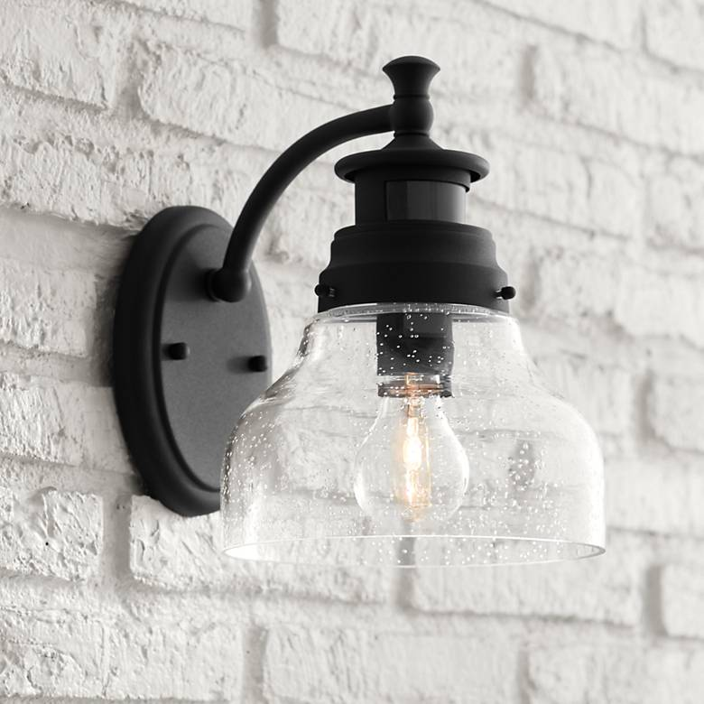 "Nobel 10"" High Black Motion Sensor Outdoor Wall Light"