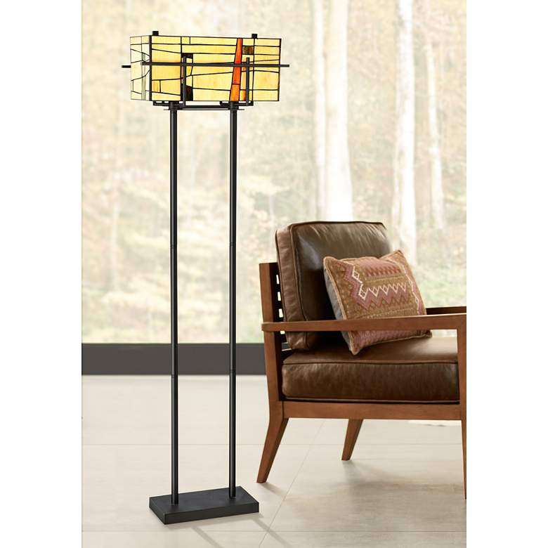 Lite Source Mansur Dark Bronze Tiffany-Style Floor Lamp
