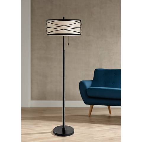 Lite Source Lumiere Black Metal Floor Lamp