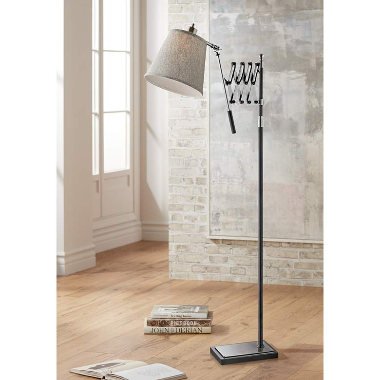 Lite Source Caprilla Brushed Nickel Extendable Floor Lamp