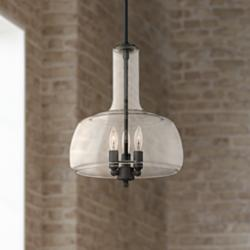 "Possini Euro Wexler 13"" Wide Bronze 3-Light Pendant Light"