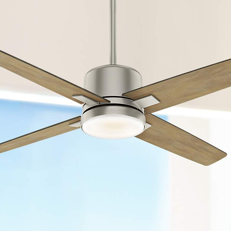 "52"" Casablanca Axial Matte Nickel LED Ceiling Fan"