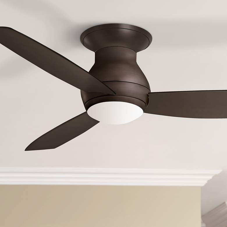 "52"" Emerson Curva Wet Bronze Hugger LED Ceiling"