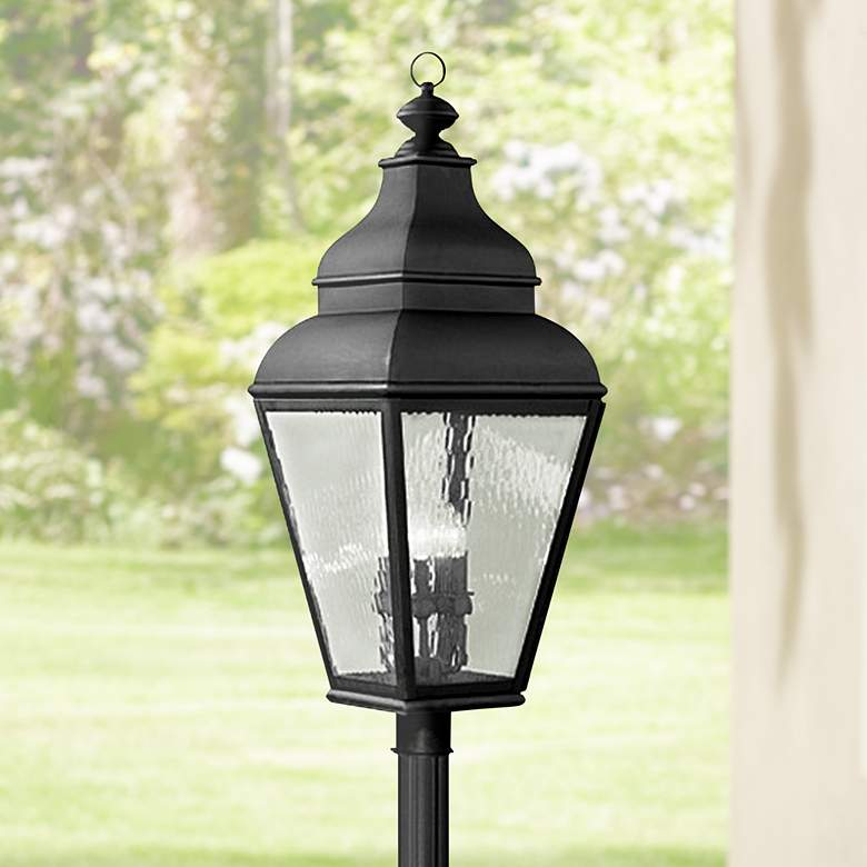 "Exeter 37 1/2"" High Black Outdoor Post Light"