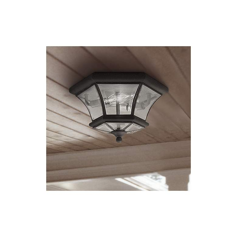 "Monterey 10 1/2""W Bronze Outdoor Ceiling Light"