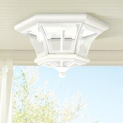 "Monterey 10 1/2"" Wide White Outdoor Ceiling Light"
