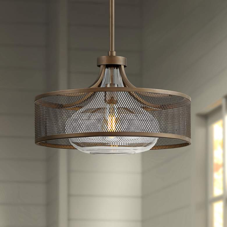 "Luis 18"" Wide Oil-Rubbed Bronze LED Pendant Light"