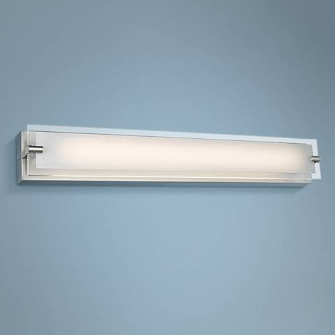 "Blaze 28 1/4"" Wide Brushed Nickel LED Bath Light"