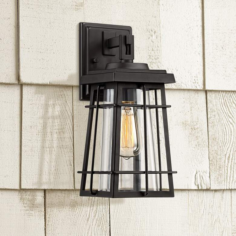 "Easton Port 14"" High Black Caged Outdoor Wall"