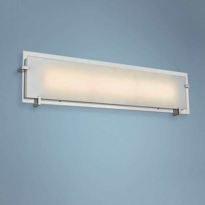 "Matrix 30"" Wide Chrome LED Bath Light"