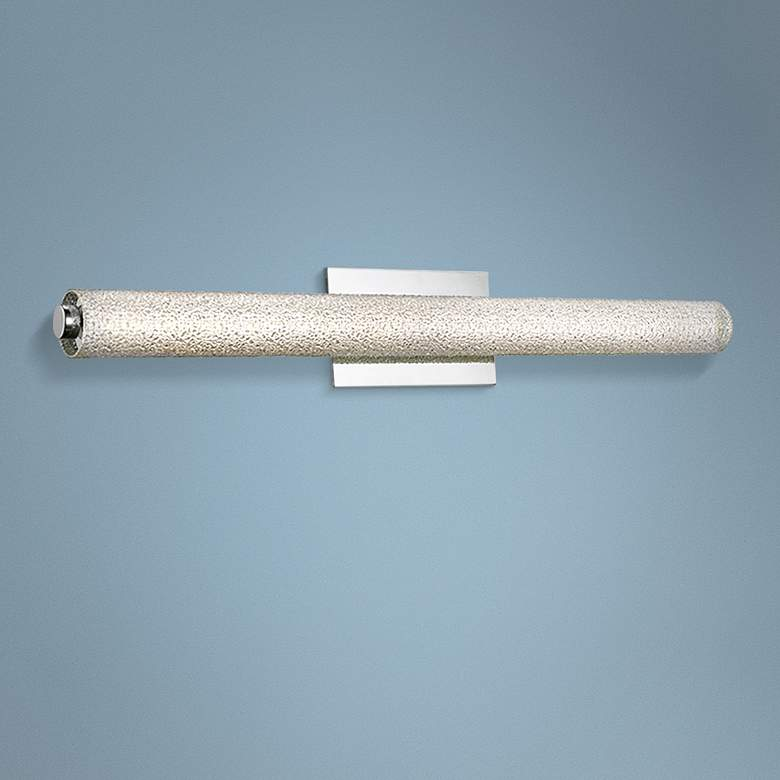 "Radius 31 1/2"" Wide Brushed Nickel Tube LED Bath Light"