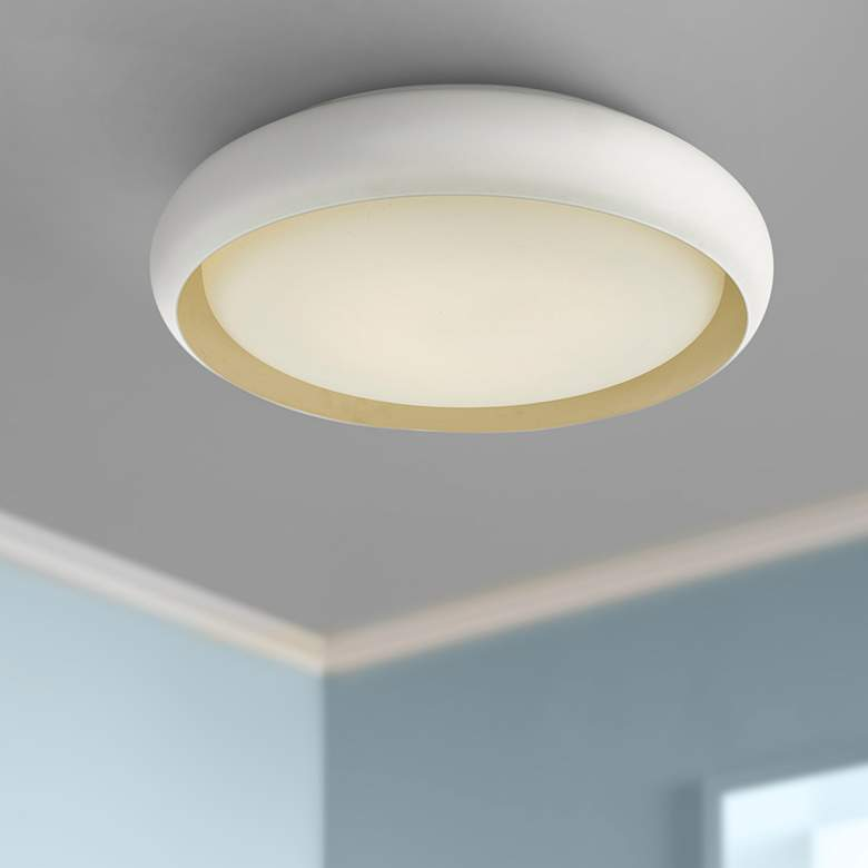 "Euphoria 18"" Wide White LED Ceiling Light"