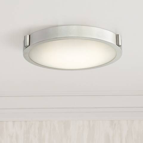 "Halo 13"" Wide Brushed Nickel LED Ceiling Light"