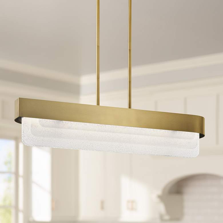 "Kichler Serene 36 1/2"" Wide Natural Brass LED Island Pendant"