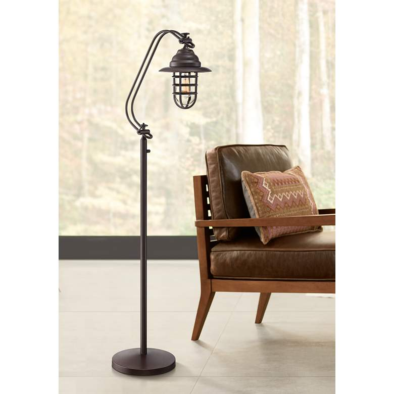 Franklin Iron Works Knox II Bronze Floor Lamp