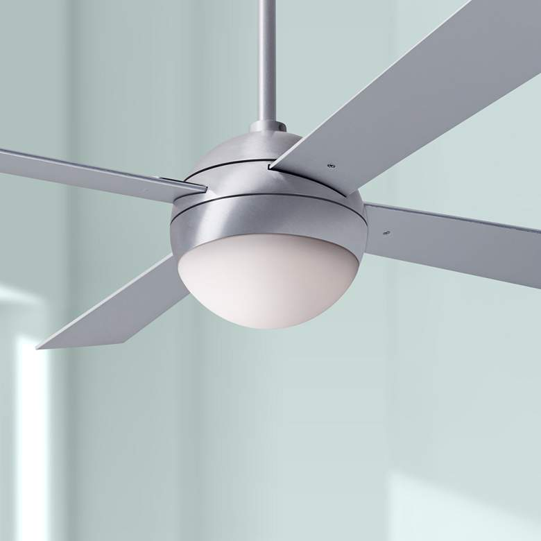 "42"" Modern Fan Ball Brushed Aluminum LED Ceiling"