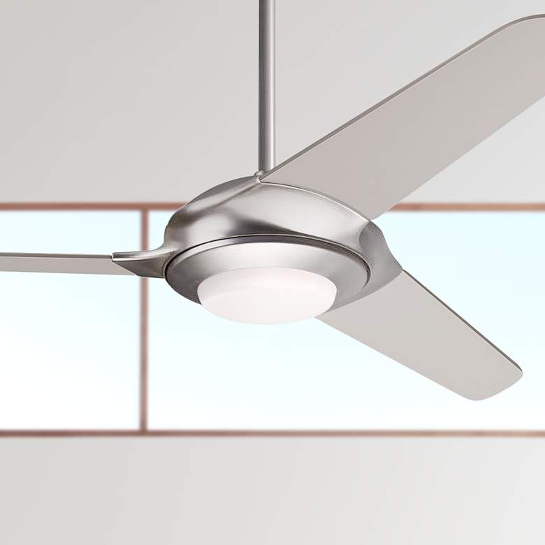 "52"" Modern Fan Flow Matte Nickel LED Ceiling"