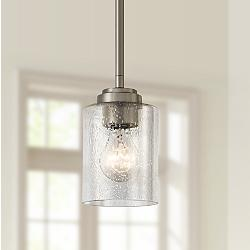 "Kichler Winslow 4 1/4"" Wide Brushed Nickel Mini Pendant"