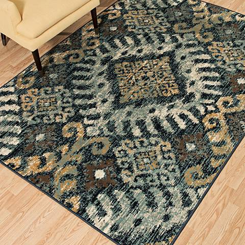 Bridges Verazanno Navy Area Rug