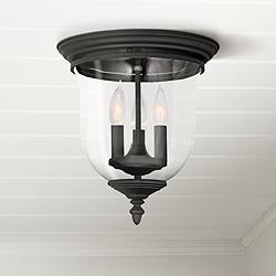 "Legacy 11 1/2"" Wide Black 3-Light Ceiling Light"