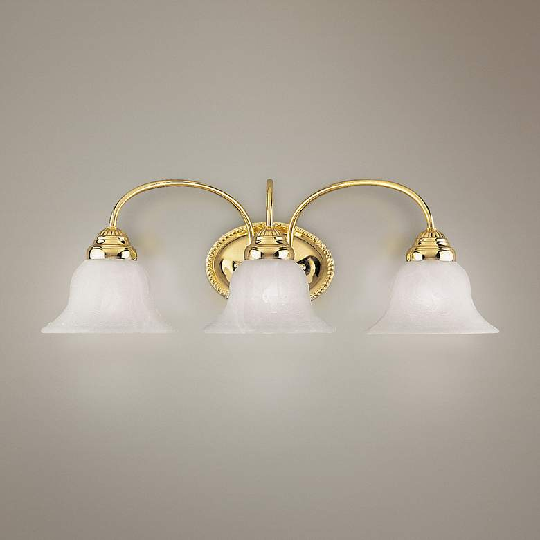 "Edgemont 23 1/2"" Wide Polished Brass 3-Light Bath Light"