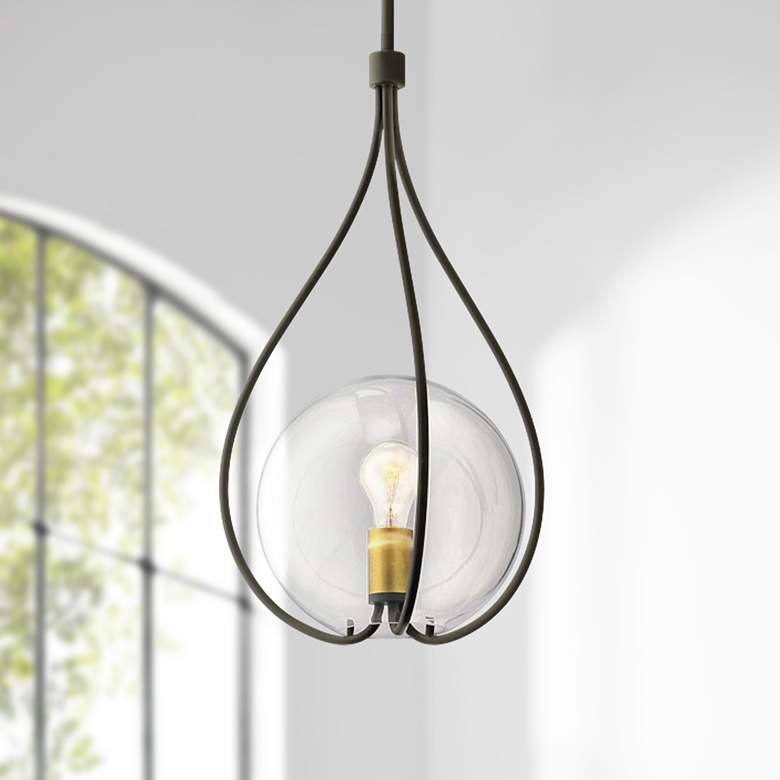 "Kichler Lynne 14"" Wide Oiled Bronze Pendant Light"