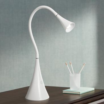 Lite Source Xena White LED Desk Lamp