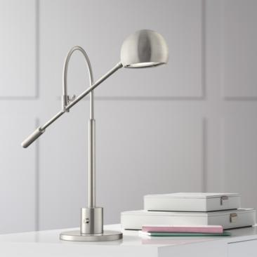 Lite Source Randall Brushed Nickel LED Desk Lamp
