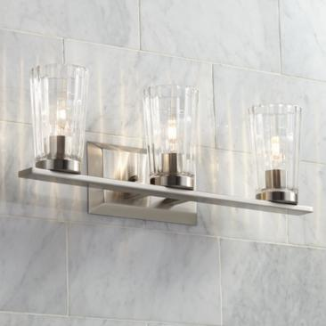 "Porter 22 1/4"" Wide Beveled Glass 3-Light Bath Light"