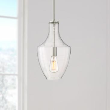 "Milstone 8 3/4"" Wide Brushed Nickel Mini Pendant"