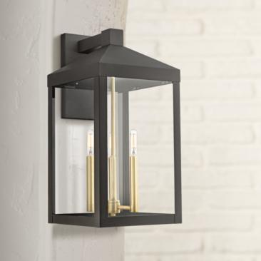 "Nyack 21 3/4"" High Bronze Outdoor Wall Light"