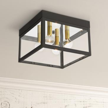 "Nyack 10 1/2"" Wide Bronze Outdoor Ceiling Light"