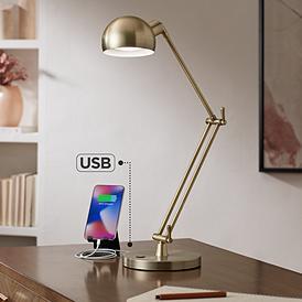 Ottlite Refine Led Antique Br Desk Lamp