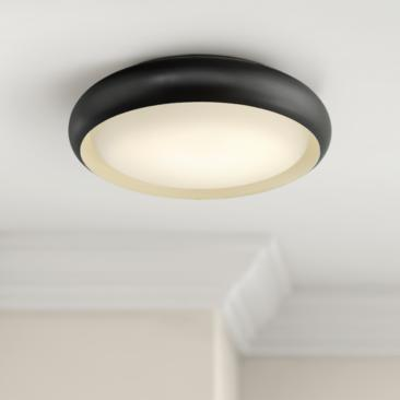 "Euphoria 18"" Wide Bronze LED Ceiling Light"